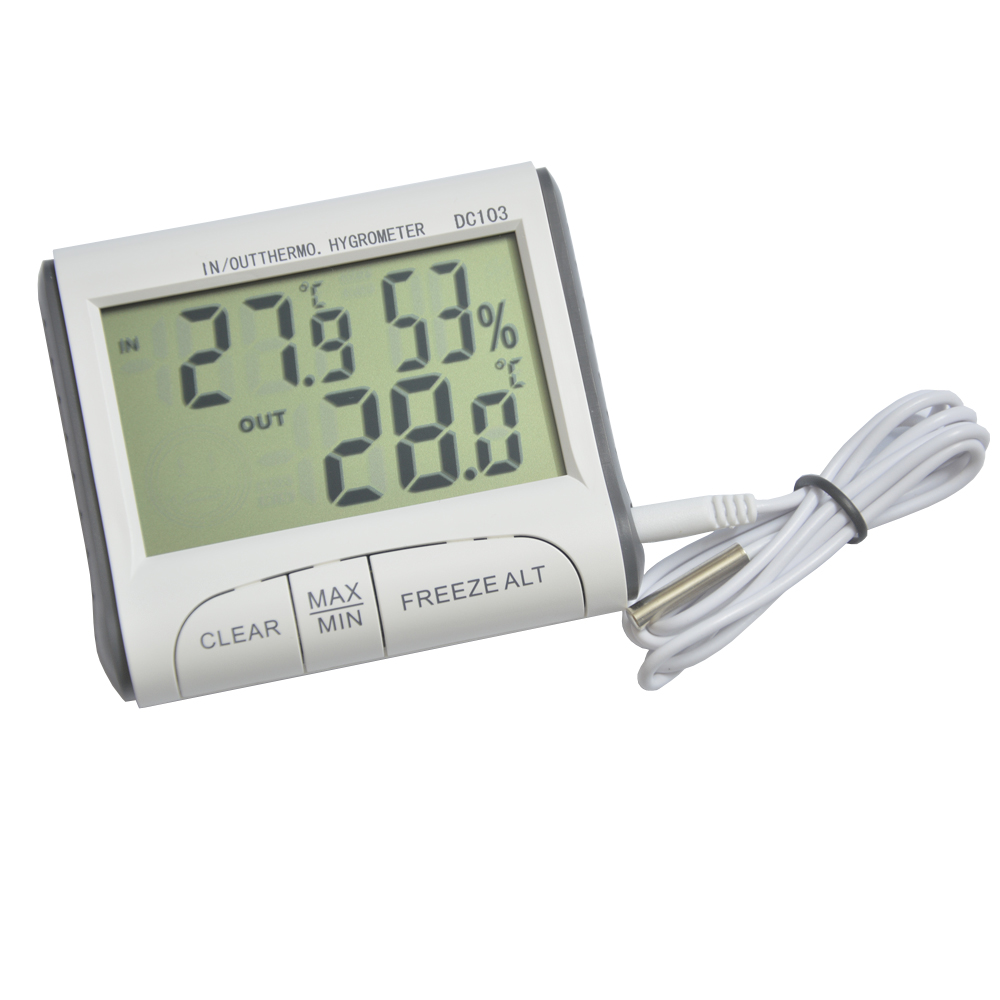 Indoor Outdoor Dc103 Thermometer Lcd Digital Portable Magnetic Frost Alarm Adsorbed Probe Hygrometer Weather Station Tester In Temperature Instruments From