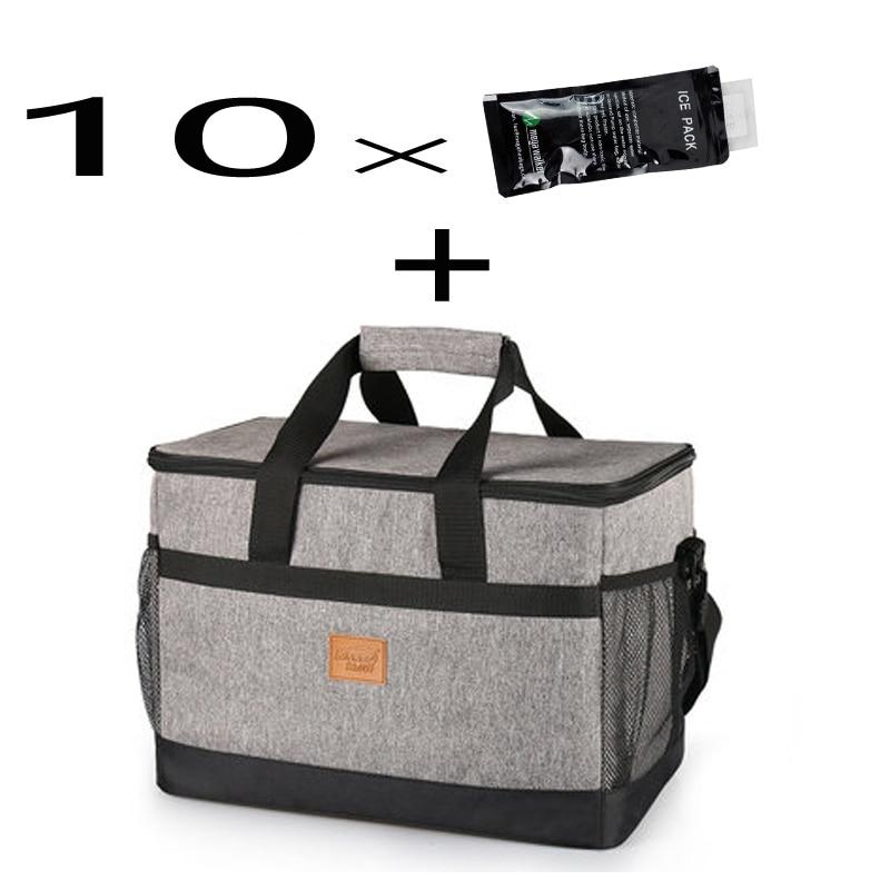 Kinnet Picnic Cooler Bag 33L Large Capacity Square Thermal Lunch Ba Bags Handbag Ba Lunch 0697f4
