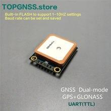UART GPS GLONASS çift modlu M8n GNSS modülü anten alıcısı, dahili flaş, NMEA0183 FW3.01 3.3-5V GPS modülü