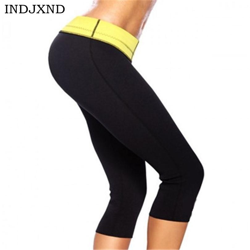 INDJXND New Pant Sweatpants Shaper Neoprene Slimming Women Pantalones Deportivos Capris Pant Shaping Self Heating Body Shaper
