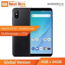 Küresel Sürüm Xiao mi mi A2 4 GB 64 GB Snapdragon 660 Octa çekirdek 5.99