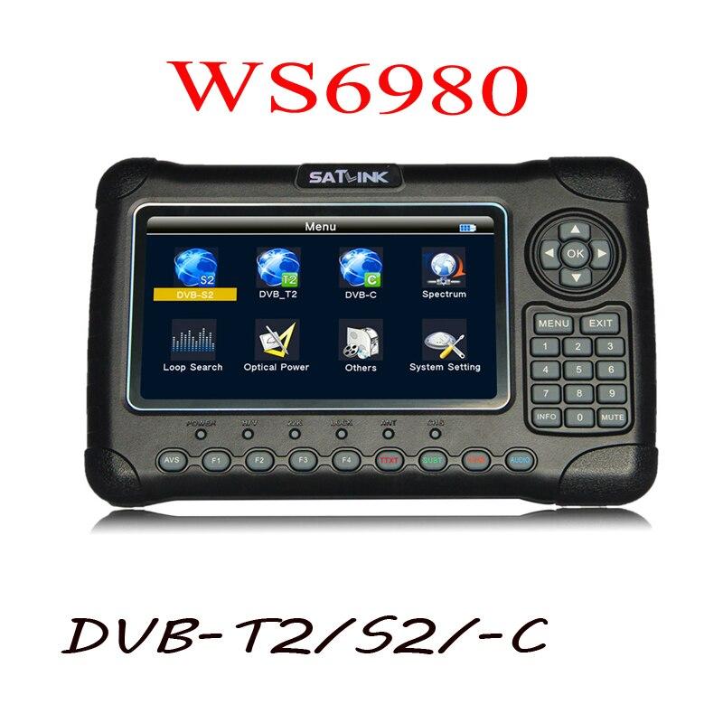Satlink 6980 7 pollice HD LCD WS6980 ws-6980 DVB-S2/C DVB-T2 di rilevamento Ottico Spettro cercatore satellite satlink WS 6980