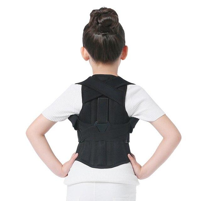 JORZILANO المهنية الأطفال قابل للتعديل الظهر الصدر حزام داعم مصحح الوضعية العلاج دعامة كتف تصحيح hunchback
