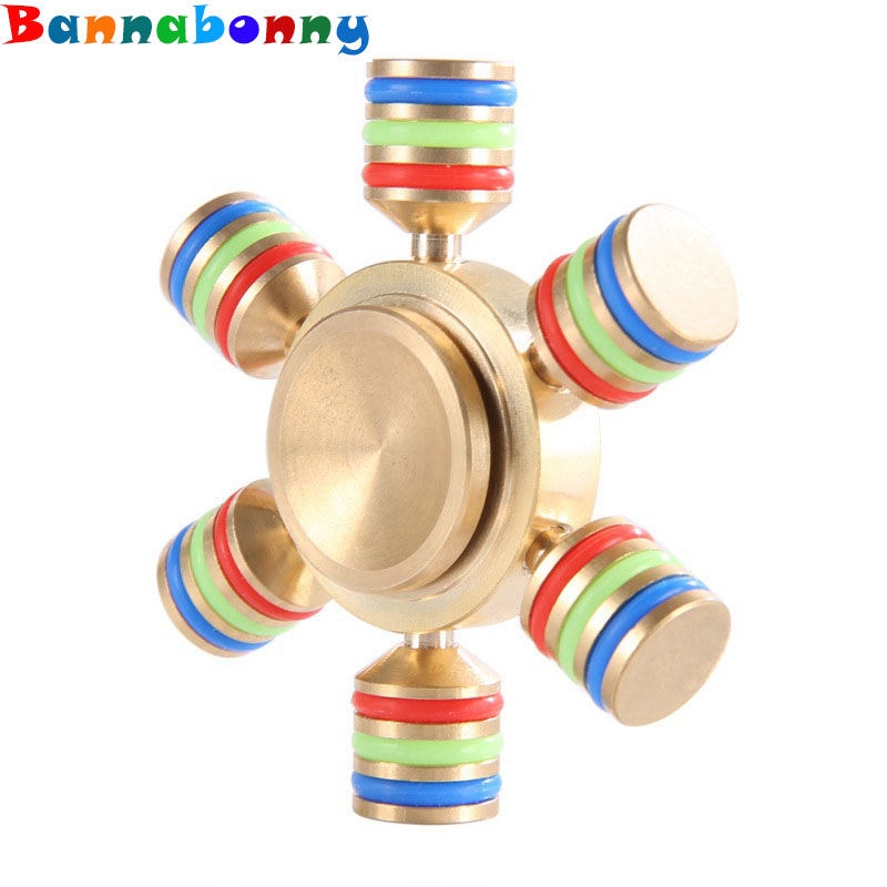 2017 Hand Fidget Spinner Six Arm Rudder Ferris wheel Finger Gyroscope Focus Anti Stress Gifts Toy