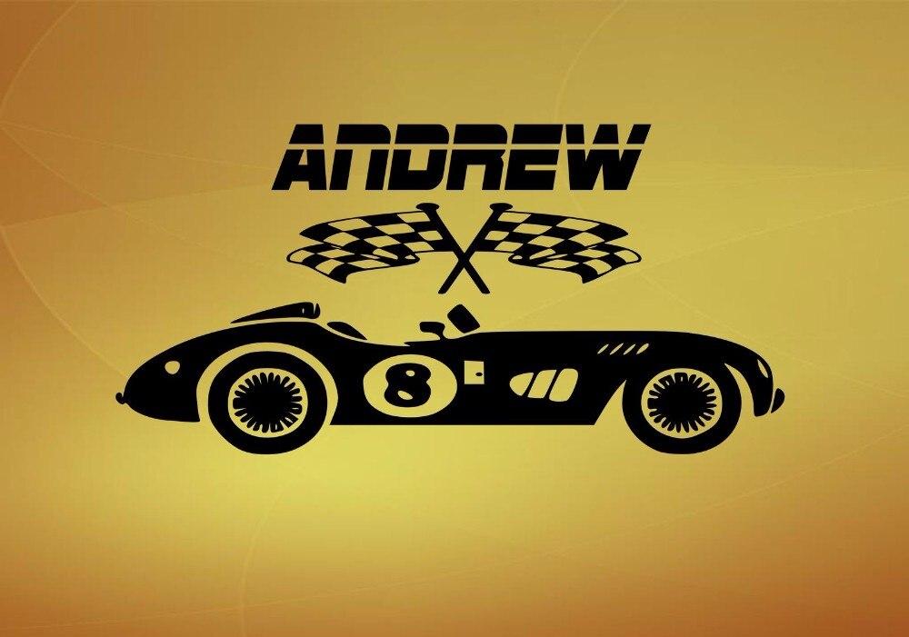 Online Get Cheap Race Car Wall Stickers Aliexpresscom Alibaba - Custom car art decals
