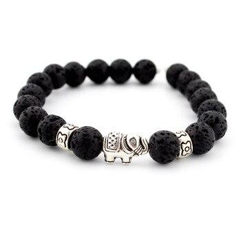 Natural Stone Bead Buddha Bracelets  For Women Men Jewelry 2
