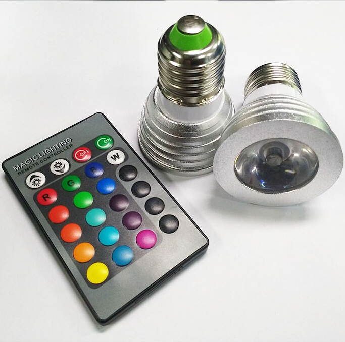 e27 b22 e14 mr16 gu10 remote control 5w rgb dimmable led lamp spot light bulb flas in led bulbs. Black Bedroom Furniture Sets. Home Design Ideas