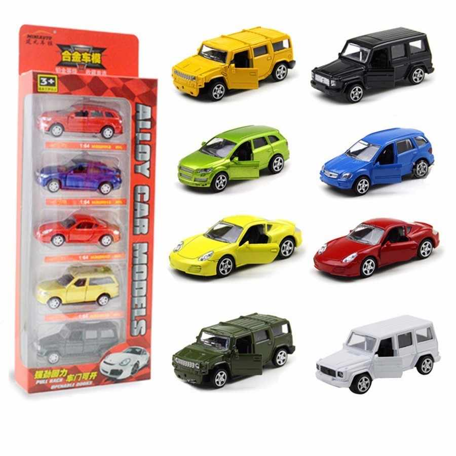1:64 Metal Alloy Diecast Car Model Pull Back 2 Doors Can Be Opened Toy Car Off-road Toy Car SUV Hummer Gift For Kids Birthday