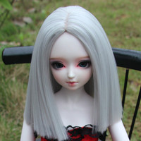 SD BJD Wig Ancient Uncle Large Female In The Shoulder Of A Knife Flat 1 3