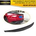 Автомобильный карбоновый задний багажник  спойлер для губ  подходит для Maserati GranTurismo Convertible  2-дверный плоский багажник 2012-2014 Black FRP