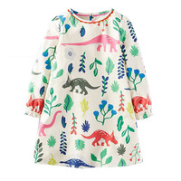 Girl Dress Summer 2017 Brand 100 Cotton Princess Dress Toddler Girl Dresses Printing Children Clothing Tutu