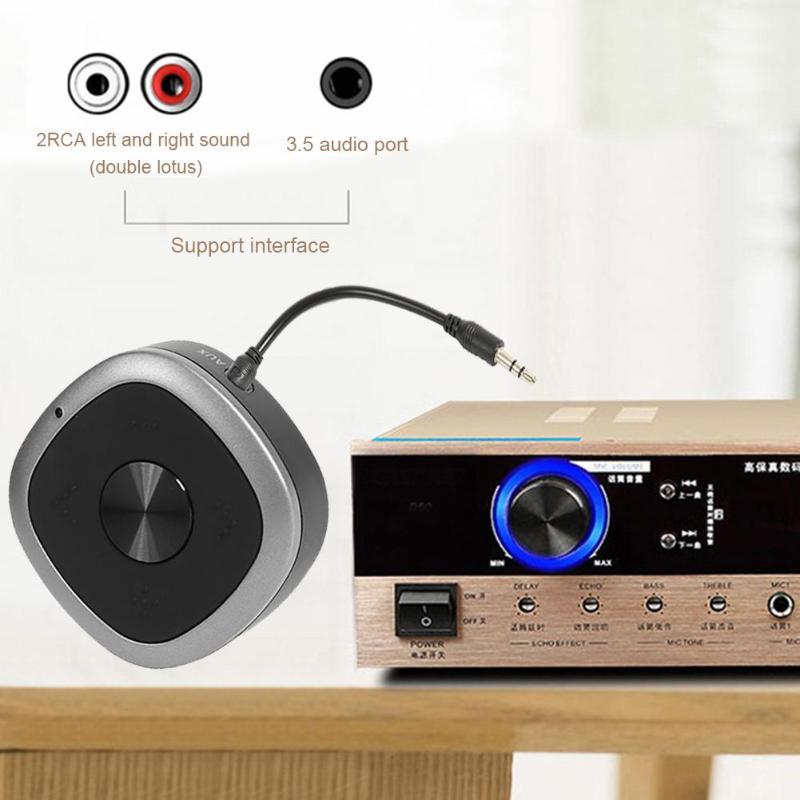 Adaptateur émetteur récepteur Bluetooth Portable double transmetteur Bluetooth adaptateur Bluetooth 2-en-1 avec Microphone