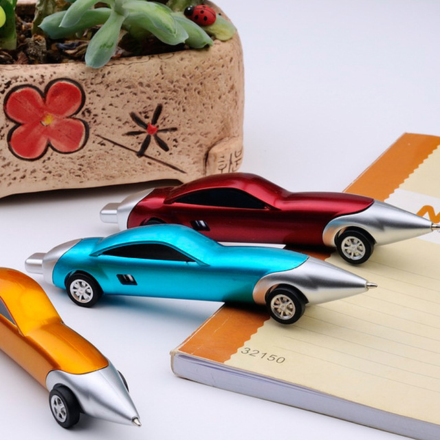 1PCS Funny Novelty Racing Car Design Ball Pens Portable Creative Ballpoint Pen Quality for Child Kids Toy Office School Supplies 1