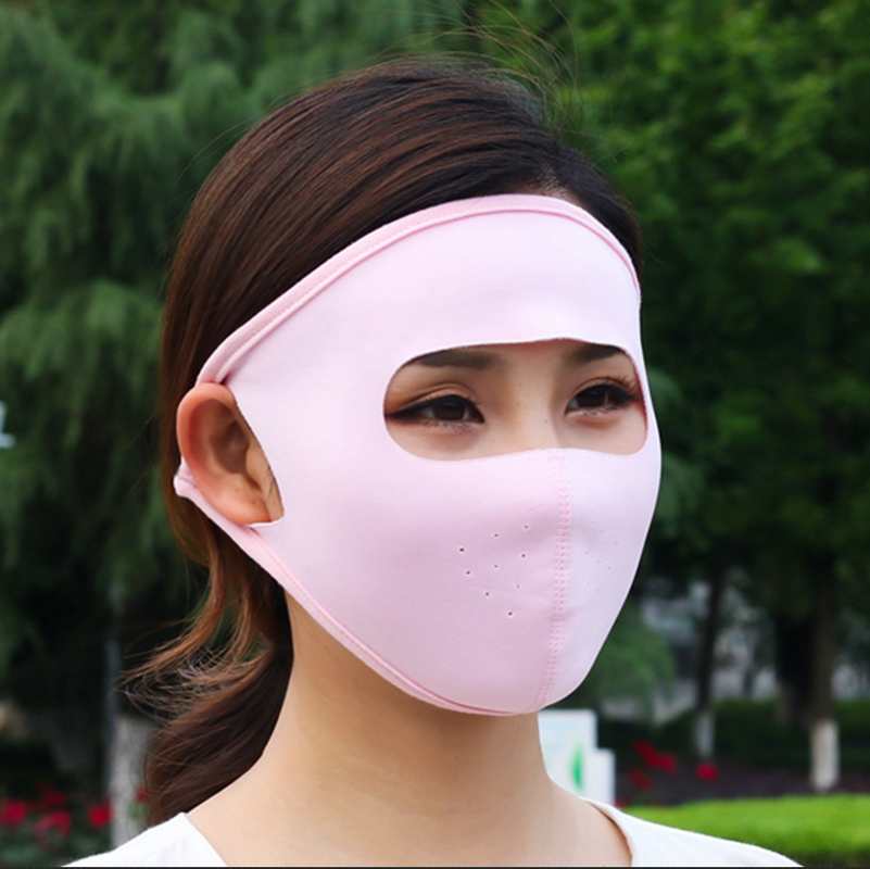 2019 Mask Unisex Summer Ice Silk Thin Sunscreen Full Face Mask UV Protection Breathable Cycling Washable Earloop Respirator Mask