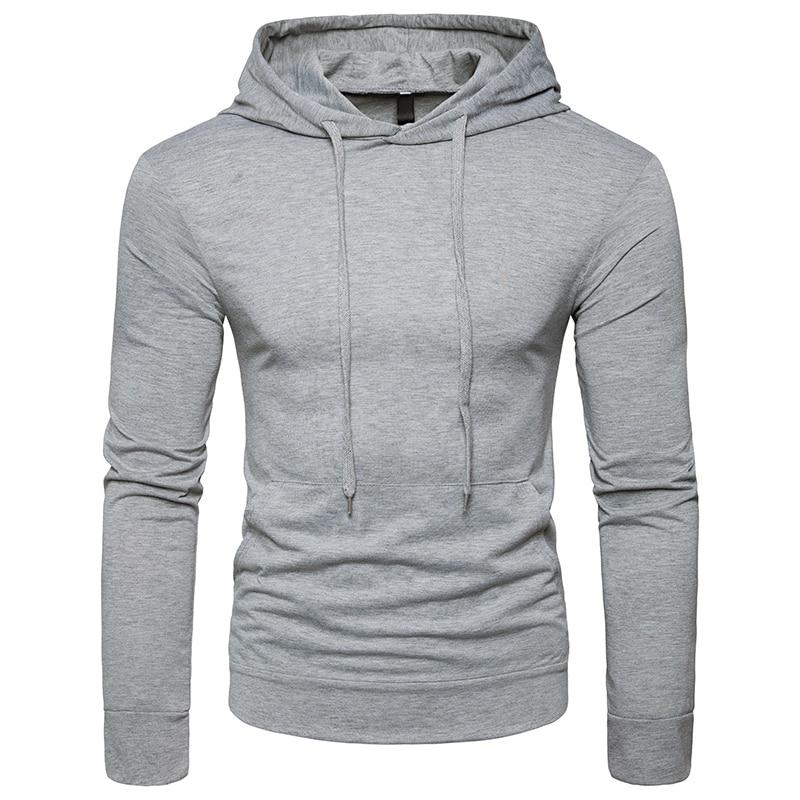 Mens New Arrivals Hoodies 2018 style Male Brand fashion Slim Hoodie Men solid color popular Hoody sweatshirts UE/US size S-XXL
