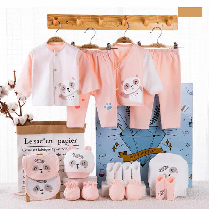 18 Uds 0-12mouth, conjunto de ropa de niño y niña, 100% de algodón, traje infantil, ropa para niña, conjuntos de ropa para bebé, pantalones, conjuntos de ropa para bebé