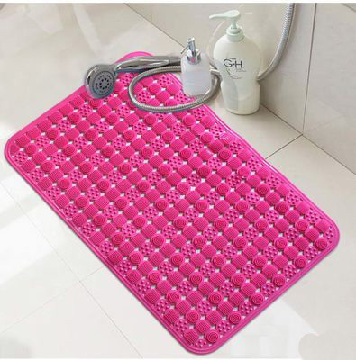 Bathroom Shower Non Slip Mat Massager Strong Suction Cup Sheet Bath Room Door Foot Pad Pvc Tub Bathing Massage Stress Relax
