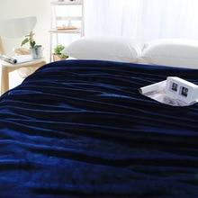 Темно-синий руно одеяло/бросить одеяло на кровать/диван, мульти-размер повышен фланель одеяло для осень/весна, взрослых мягкой подстилкой