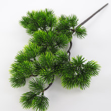 Artificial Pine Branch Simulation Green Plant Fake Pine Needle For Home Living Room Cabinet Balcony Garden Decoration(China)