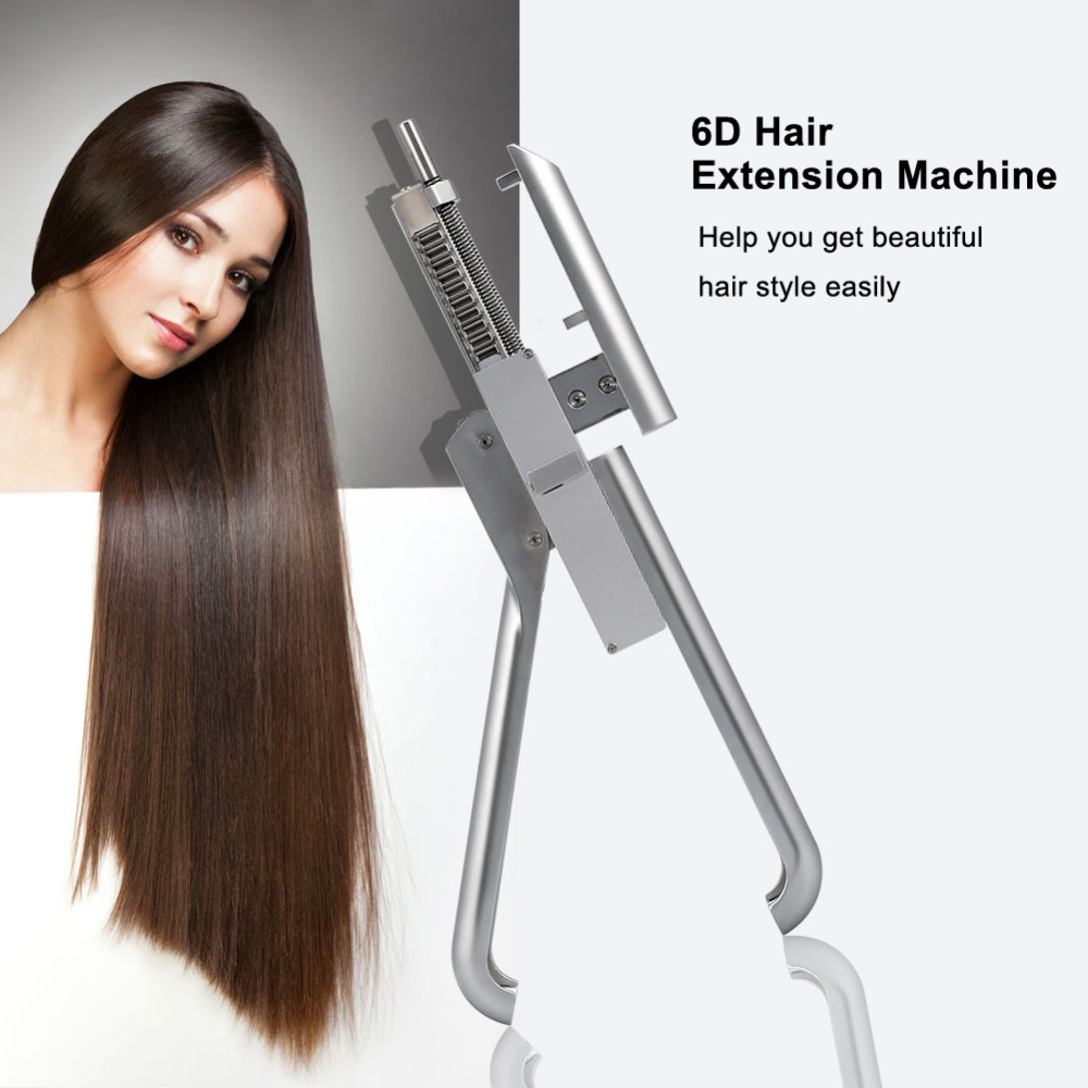 6D No-trace Hair Extension Machine High Qualit Natural Real Hair Style Wig Connector Tool Kit Keratin Hair Extension Kit graceful short side bang fluffy natural wavy capless human hair wig for women