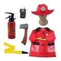 Bombero niños juguetes de Simulación conjunto de juguete bombero casco de bomberos extintor juguete niños Cosplay Free Size
