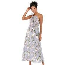 6b7cb7bca8 2019 VOLOCEAN seks sukienka kobiet 2019 drukuj letnie sukienki sukienka do  kostek kobiet Fashoin sukienka Halter