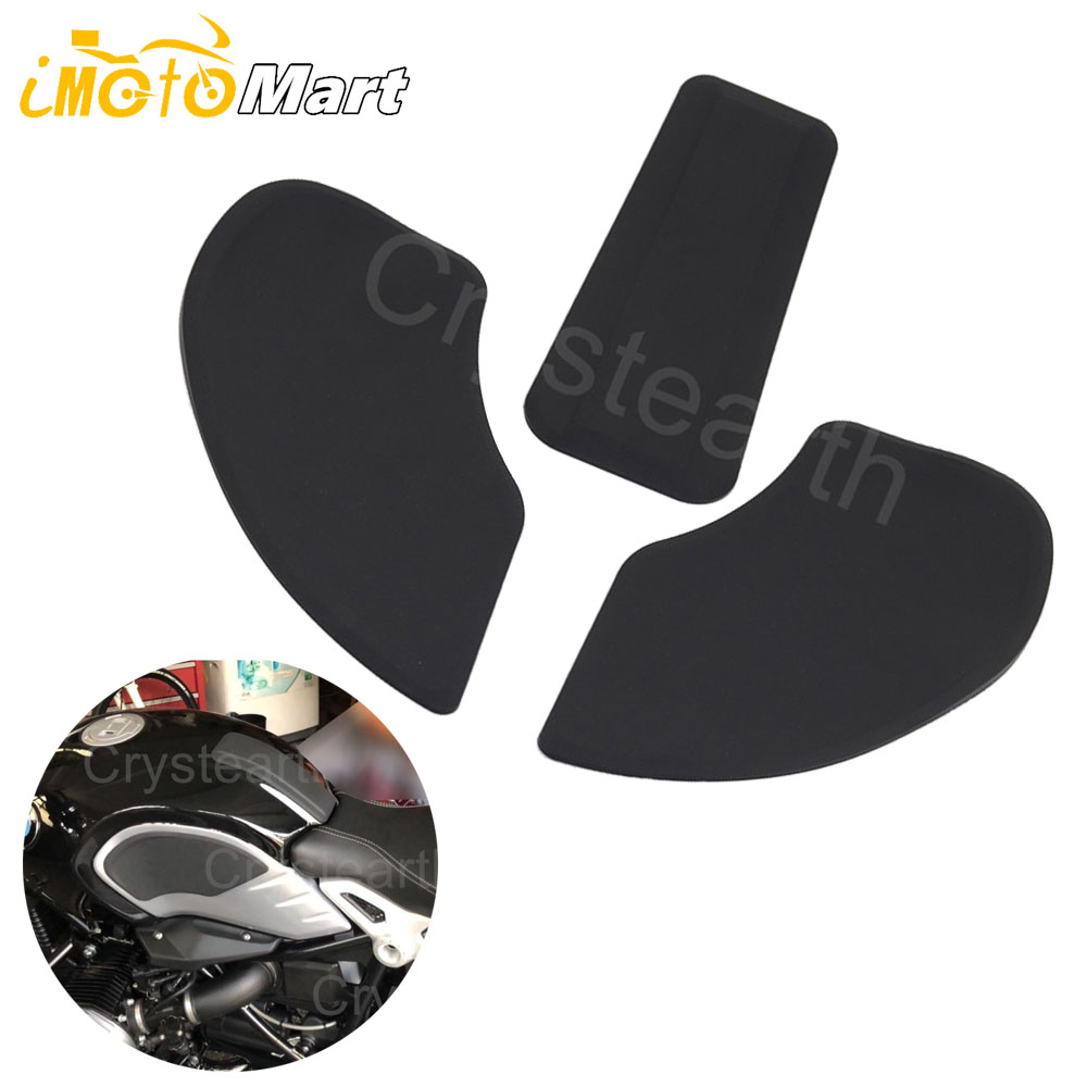 Motorcycle Side Gas Knee Grip Tank Traction Pads Protector Sticker Decal For R Nine T 2013-2017