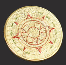 Mayan Aztec Prophecy Calendar Commemorative Coin Art Collection Gift