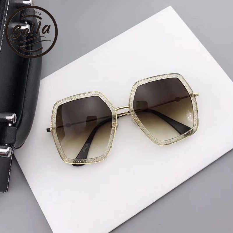 bc0a3c6f8c45 ... Sella New Arrival Polygon Oversized Women Sunglasses Summer Trending  Hexagon Colorful Frame Men Sun Glasses Brand ...