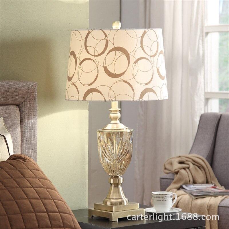 Туда 38X71 см Бесплатная доставка K9 Кристалл Настольная лампа для Спальня тумбочка лампа Современная Гостиная исследование декоративные нас...