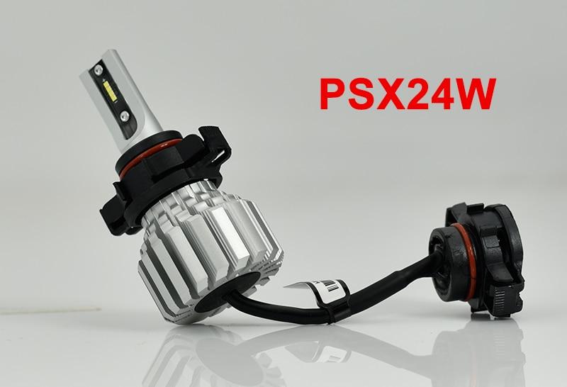 CNSUNNYLIGHT Car Front Fog Bulb LED Lights White H11 H8 9006 H1 H3 880 PSX24W PSX26W P13W H7 9005 5000Lm DC 12V Auto DRL Foglamp (14)
