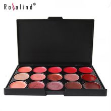 Rosalind Lips Makeup Multicolor Beauty 15 Colors Glitter Lipstick Palette Lip Gloss