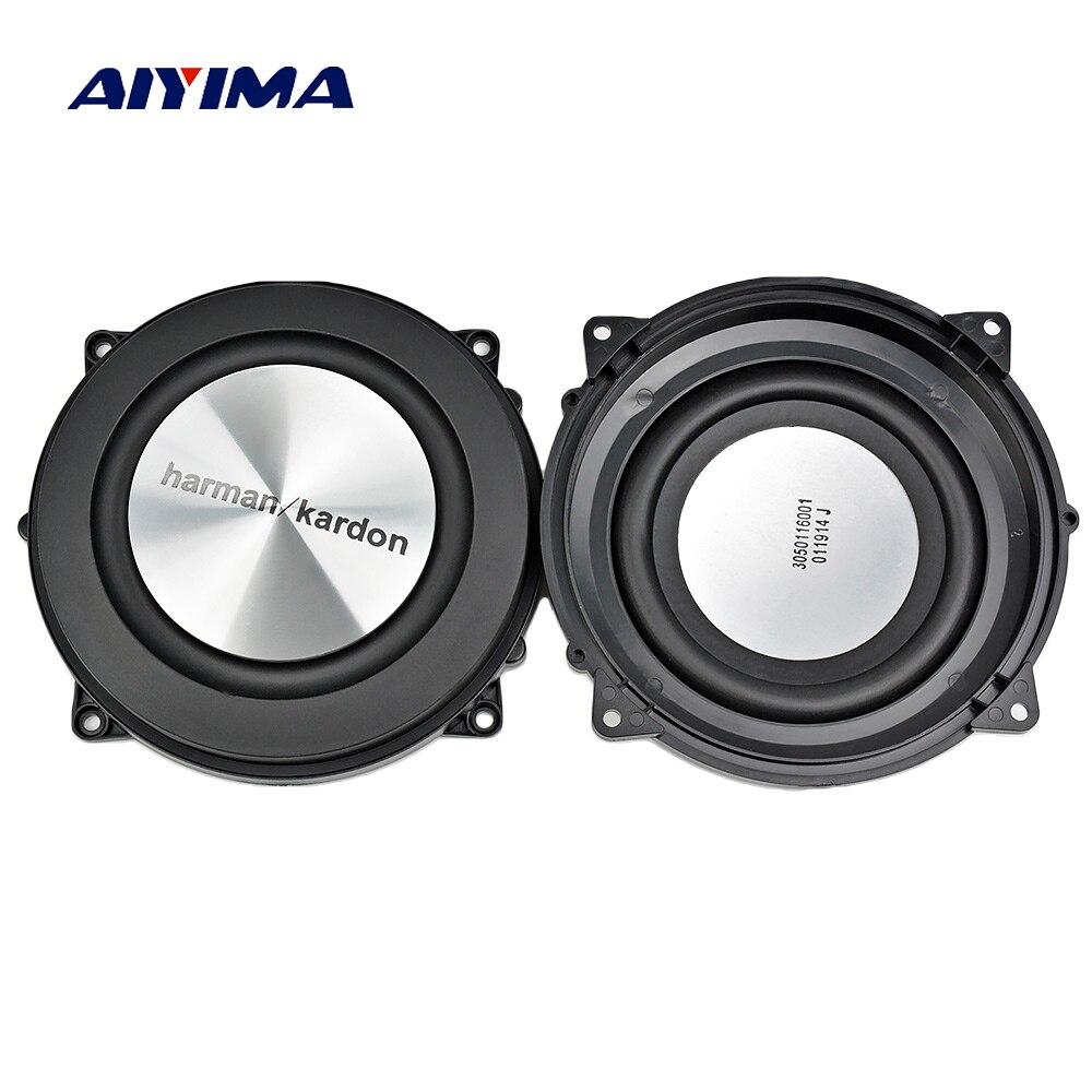 AIYIMA 2 stück 4 Inch 120mm Bass Heizkörper Passive Kühler Lautsprecher Gebürstet Aluminium Hilfs Bass Vibration Membran Für Woofer DIY