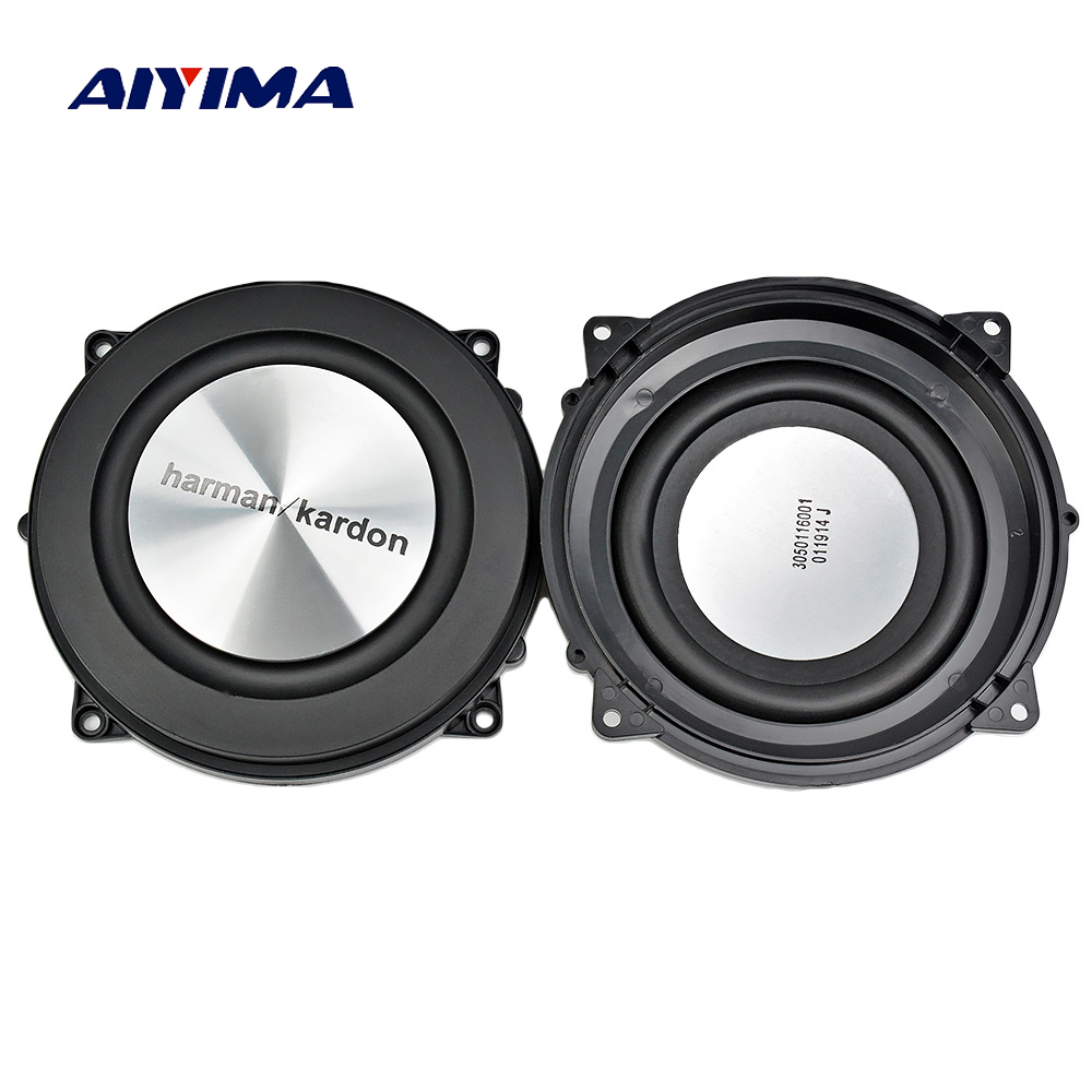 AIYIMA 2 Unid 4 pulgadas 120mm bajo radiador pasivo altavoz de aluminio cepillado auxiliar bajo vibración membrana para Woofer DIY