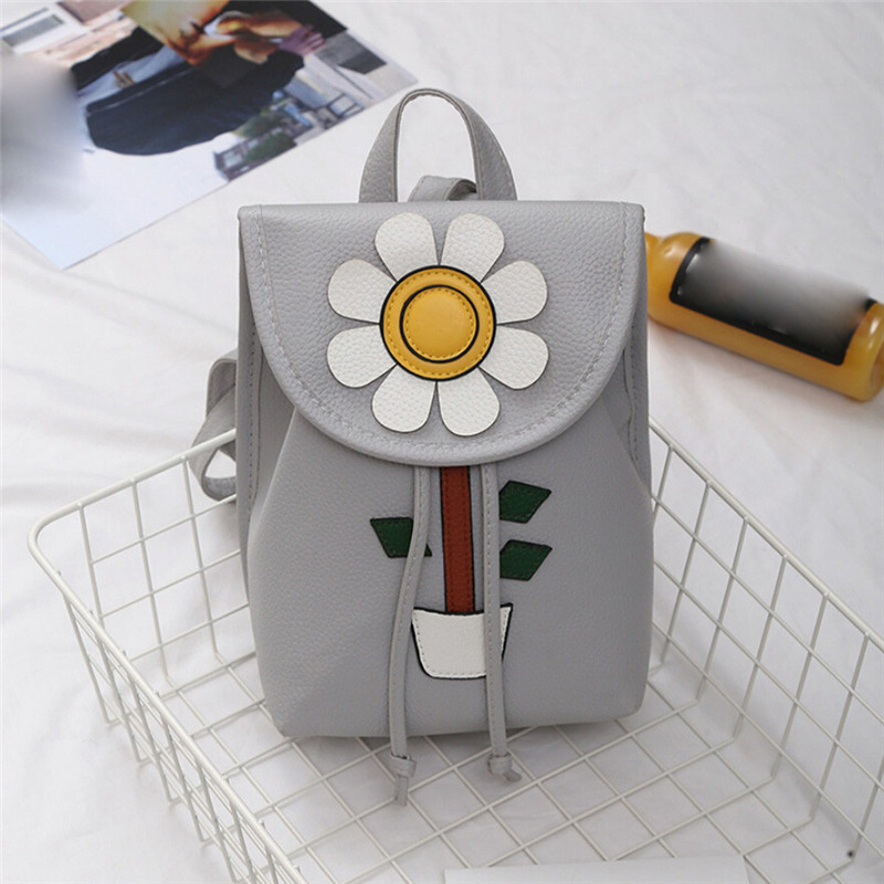 High Quality Women Flowers Fresh Simple Mini Backpack Women Back Pack Backpacks Girls sac a dos des femmes mochila feminina