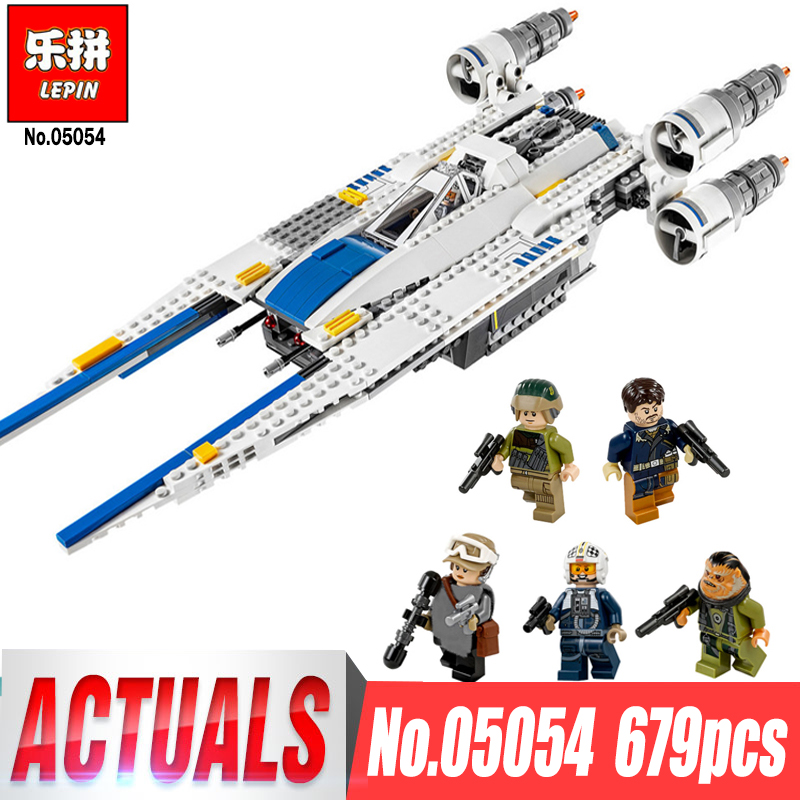 LEPIN 05054 Fighter Set Building Blocks Rogue One A Star Story Wars The U Gift Wing Bricks Toys for Children legoing 75155 конструктор lepin star plan истребитель повстанцев u wing 679 дет 05054