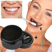 купить tooth powder+toothbrush Teeth Whitening Oral Care Charcoal Powder Natural Activated Charcoal Oral Hygiene Teeth Whitener Powder дешево