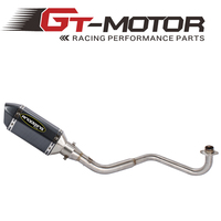 GT Motor MSX 125 Full Exhaust System Motorcycle Muffler Front Link Pipe Slip On With DB Killer For HONDA MSX125 2013 2019