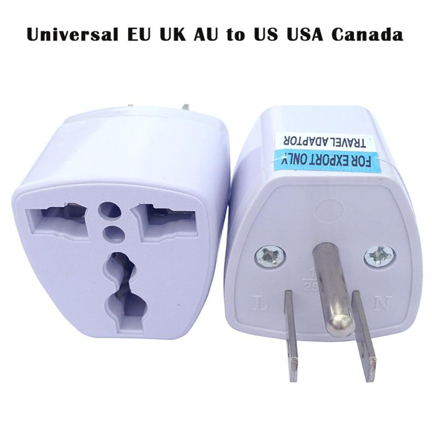 HOT!! Universal 3-Pins EU UK AU to US USA Canada AC Travel Power Plug Adapter Converter Portable Tourist Hotel Lowest Price @