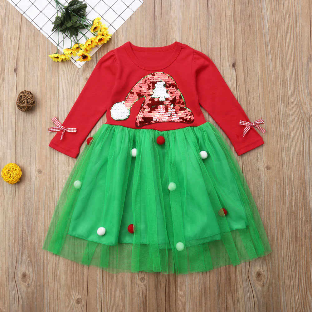 Newborn Baby Girls Autumn/Winter Princess Clothes For 0-2Y Baby Girls Kids Christmas Party Dress Outfits Clothes