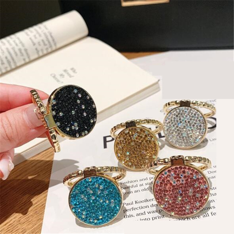 UVR Luxury Metal Flower Round Finger Ring Smartphone Stand Holder Mobile Phone Holder For IPhone Huawei All Phone
