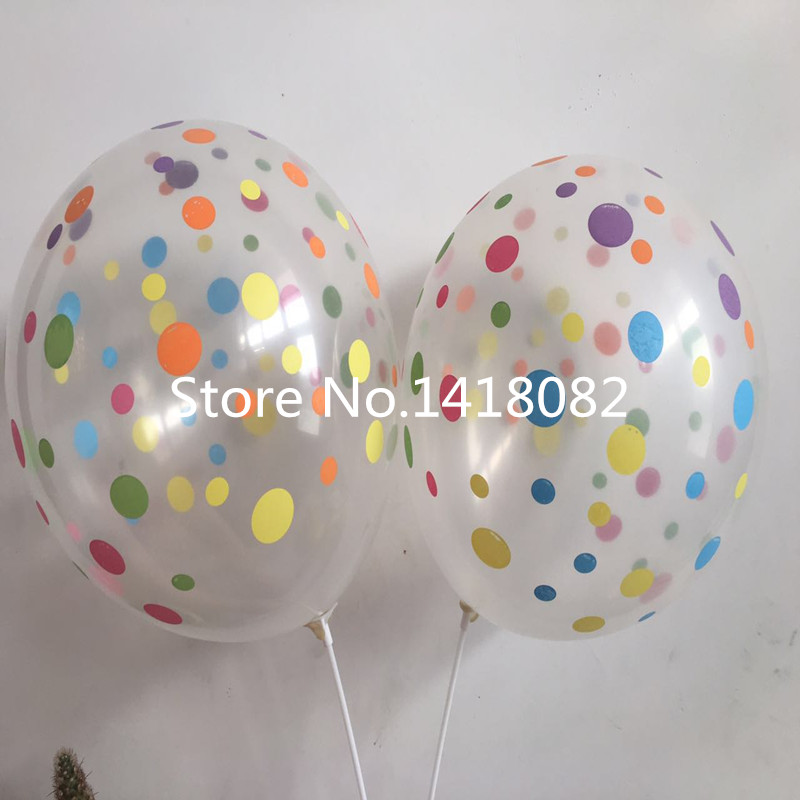 Globo de impresión transparente 50 unidades / lote 12 pulgadas 2.8 g - Para fiestas y celebraciones - foto 4