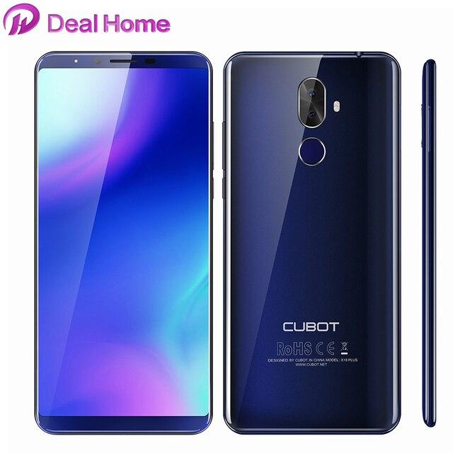 Оригинал Cubot X18 плюс Android 8,0 18:9 FHD + 4G B 6 4G B 5,99 дюймов MT6750T 8-ядерный смартфон 16MP + 2MP сзади камеры 4G Celular