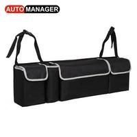 Car Trunk Backseat Organizer Storage Bag Oxford Cloth High Capacity 2in1 Auto Seat Back Organizers Interior