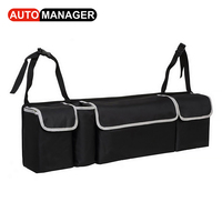 Car Trunk Backseat Organizer Storage Bag Oxford Cloth High Capacity 2in1 Auto Seat Back Organizers Interior