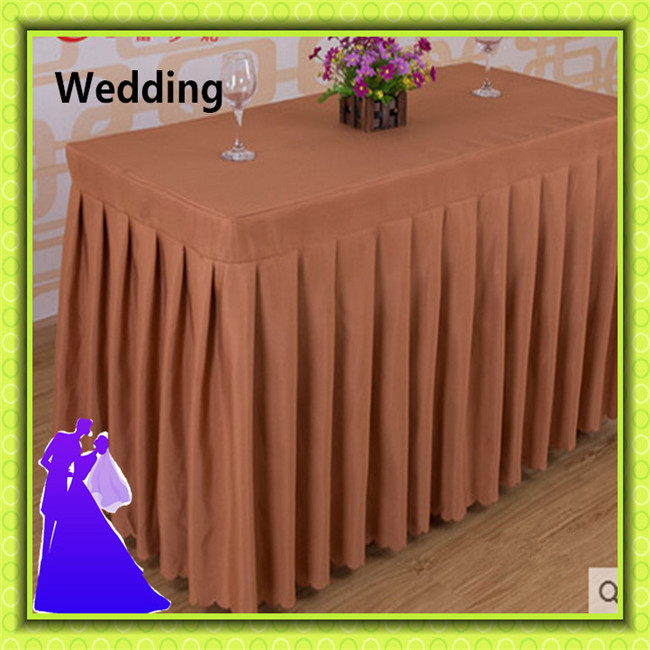 Hotel Polyester Rectangle Banquet Table Skirt For Tables Free