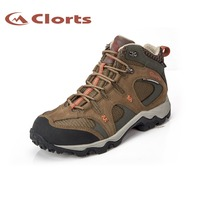 2016 Clorts Men Hiking Sneakers Cow Suede Waterproof Outdoor Hiking Shoes EVA Climbing Athletic Shoes HKM