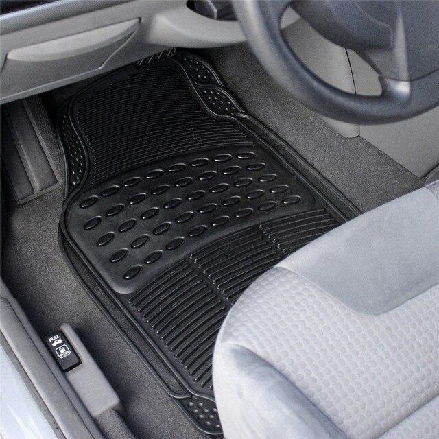 auto vehicle floor mat universal car fit front rear 4 piece full set ridged anti