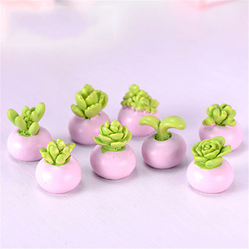 ZOCDOU 1 Piece Cactus Bonsai Flower Desert Succulent Cereus Plant Small Statue Figurine Little Crafts DIY Miniatures Ornament image