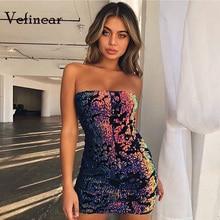 Vefinear 2018 Backless Sexy Fashion Women Top Nightclub Party Mini Dress  New Summer Neck Line Slash 8a8ee6686b33
